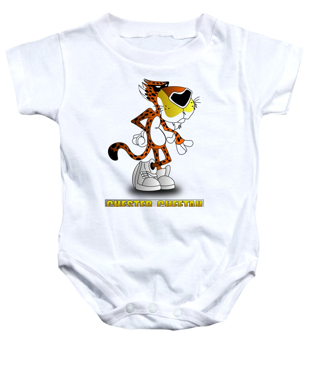 df132f91 Cartoons Baby Onesie featuring the digital art Chester Cheetah by Brian  Swanke