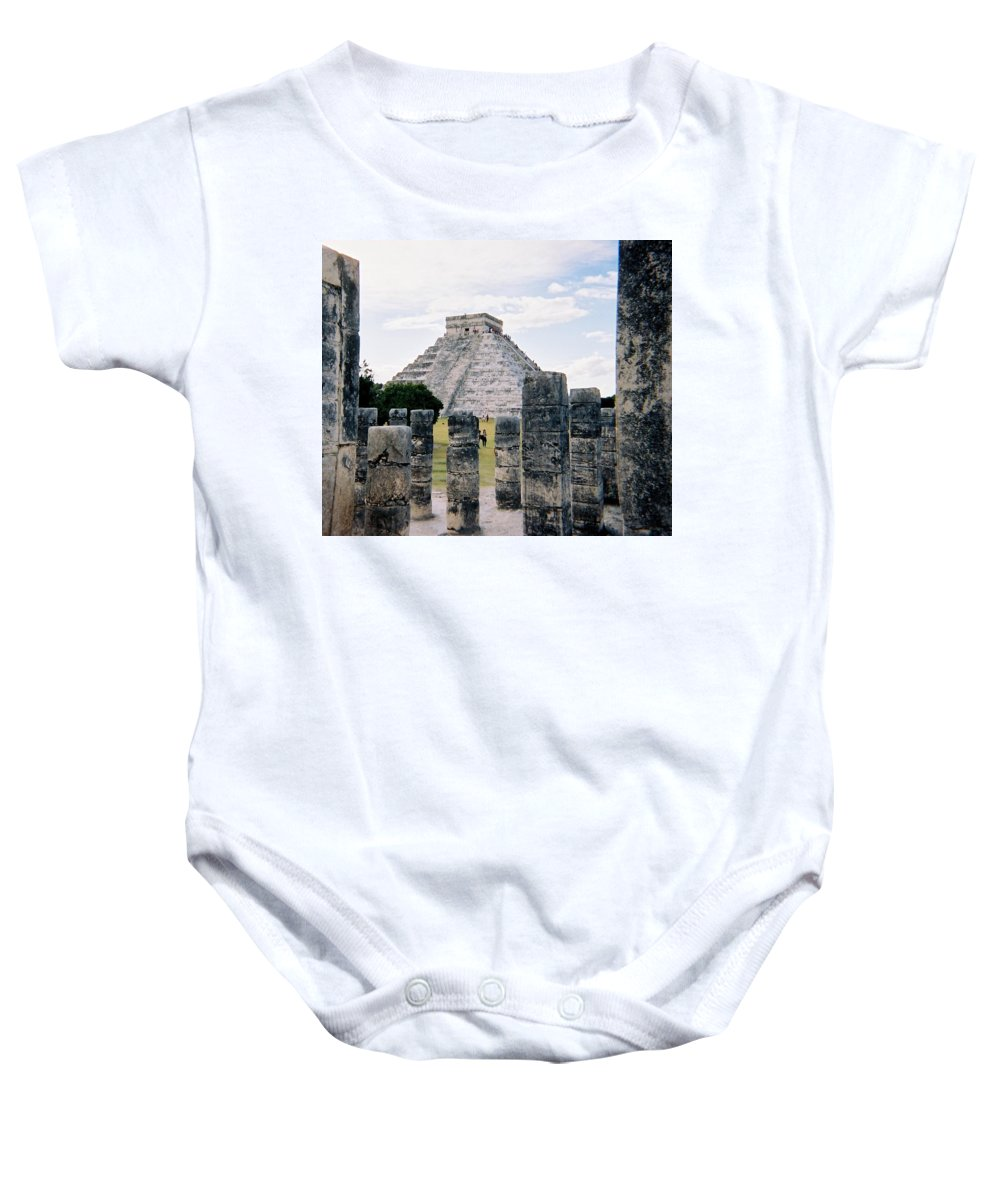 Chitchen Itza Baby Onesie featuring the photograph Chichen Itza 3 by Anita Burgermeister