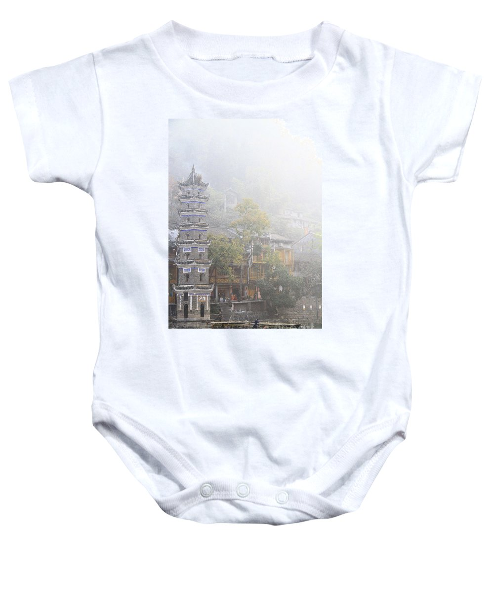 Landscape Baby Onesie featuring the photograph China City by Philip Hp Wong