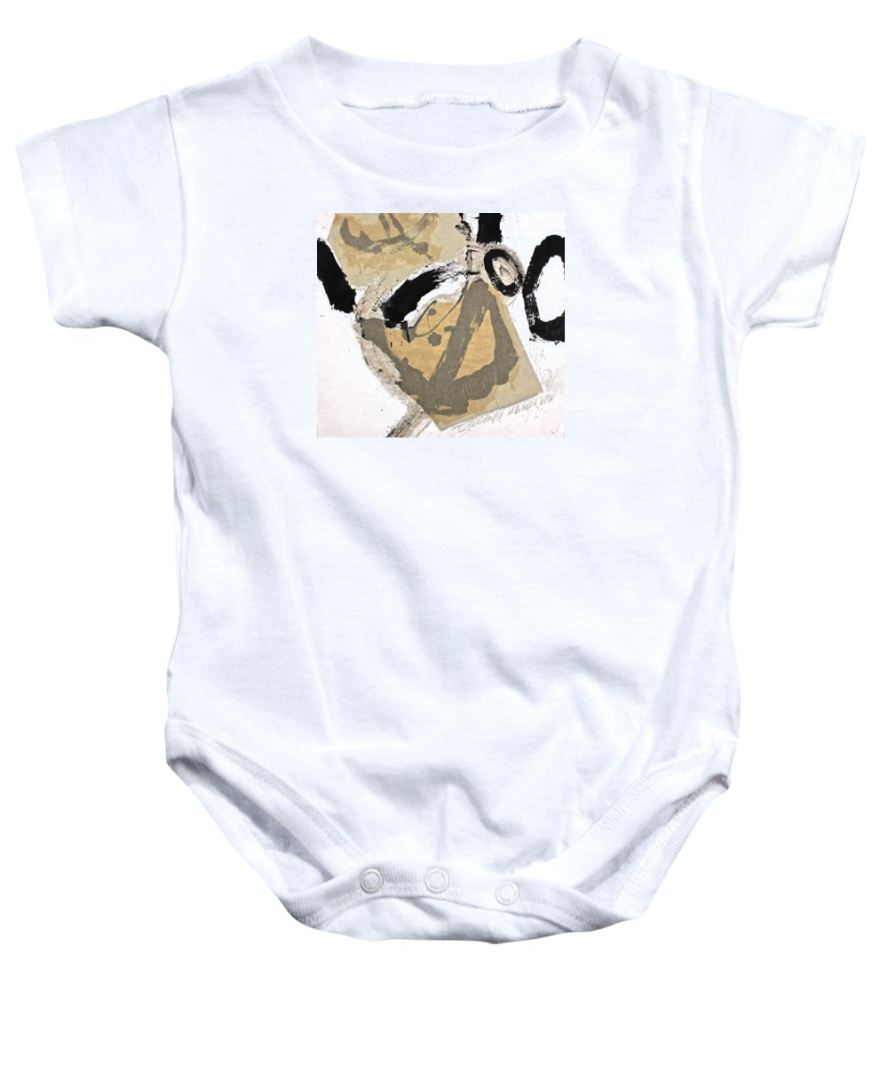 Abstract Paintings Baby Onesie featuring the painting Chine Colle by Cliff Spohn