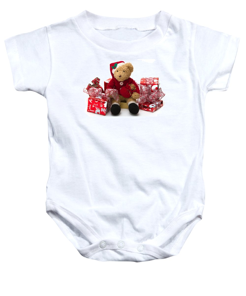 Christmas Baby Onesie featuring the photograph Christmas Time by Louise Heusinkveld