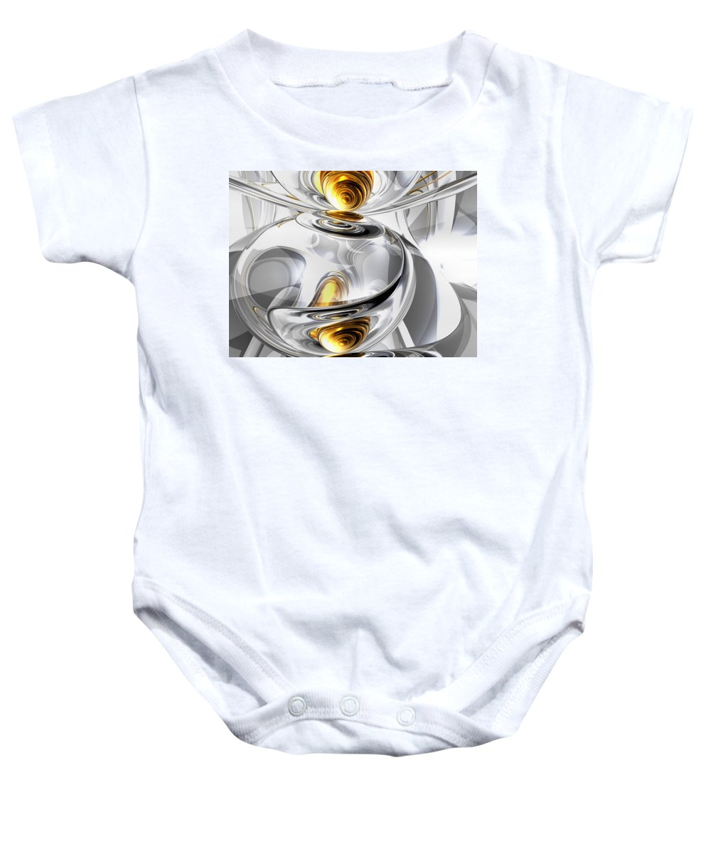3d Baby Onesie featuring the digital art Circumvoluted Abstract by Alexander Butler