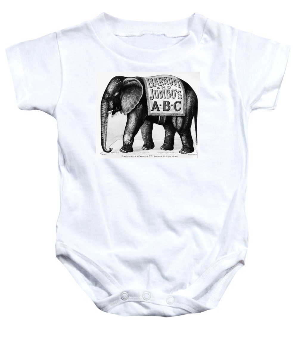 1882 Baby Onesie featuring the photograph Circus: Jumbo, C1882 by Granger