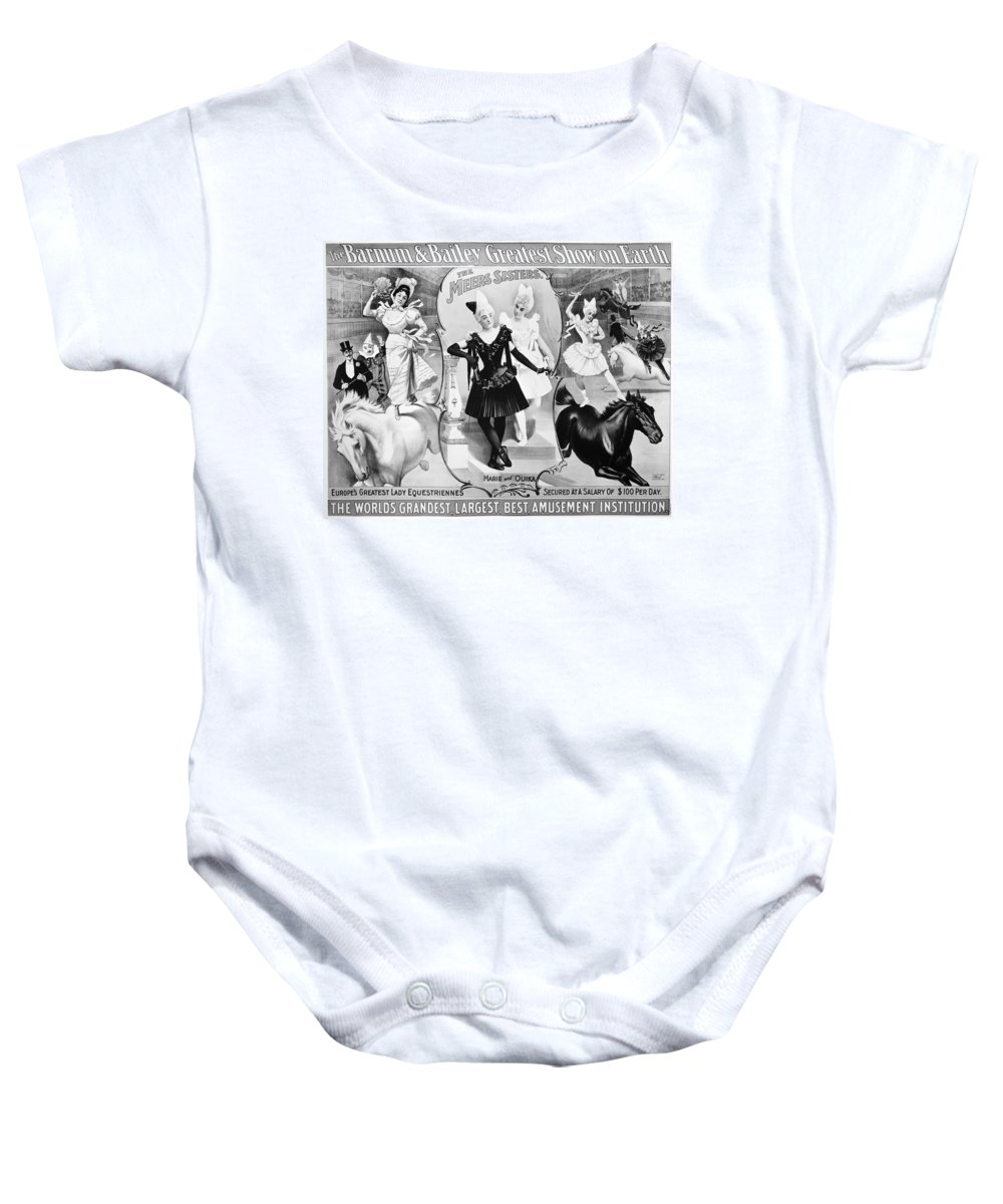 1895 Baby Onesie featuring the photograph Circus Poster, 1895 by Granger