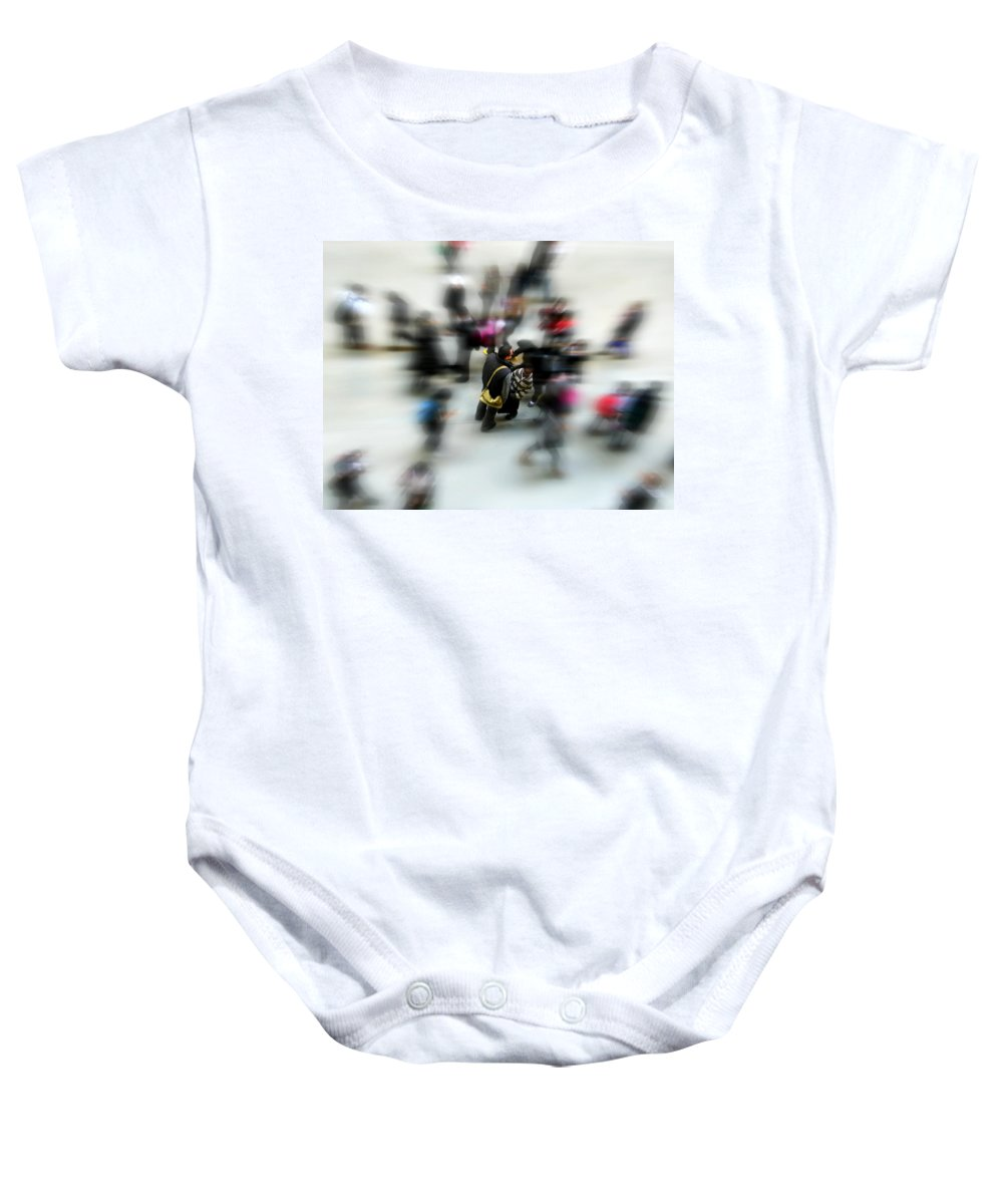 London Baby Onesie featuring the photograph City In Movement by Osvaldo Hamer