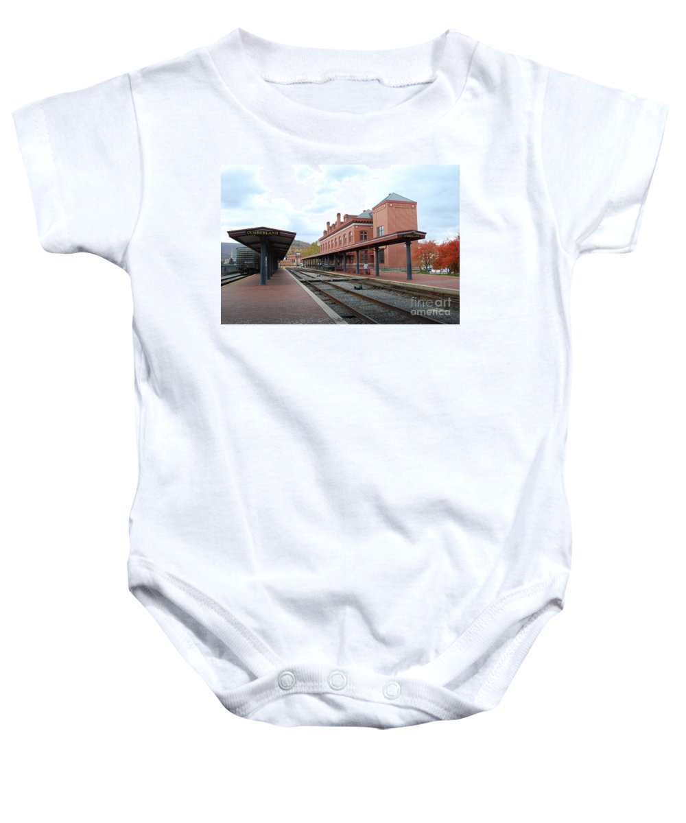 Historic Baby Onesie featuring the photograph Cumberland City station by Eric Liller