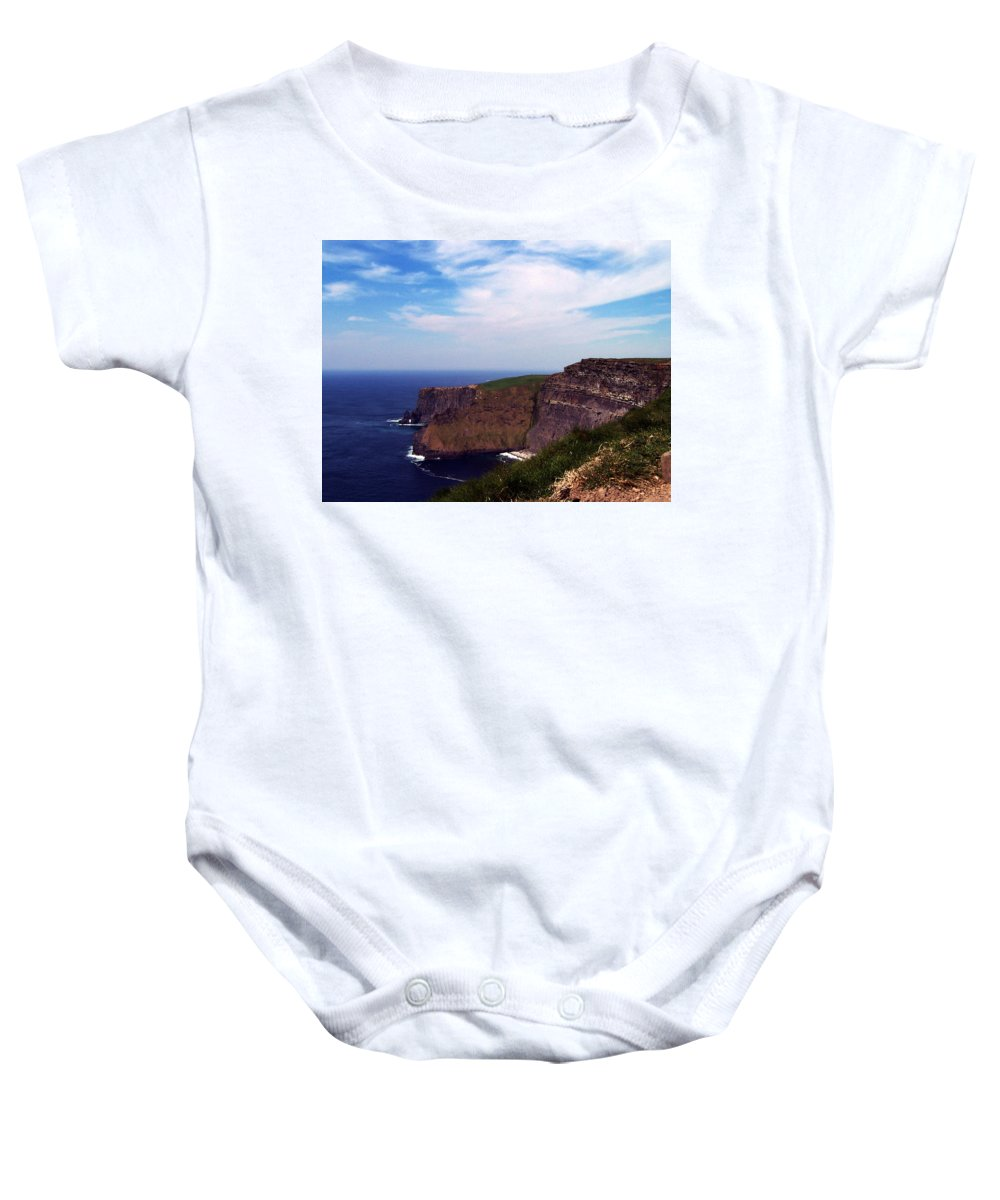 Irish Baby Onesie featuring the photograph Cliffs Of Moher Aill Na Searrach Ireland by Teresa Mucha
