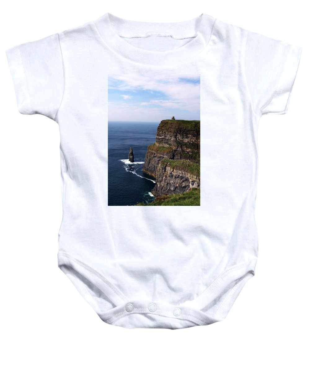 Irish Baby Onesie featuring the photograph Cliffs Of Moher County Clare Ireland by Teresa Mucha