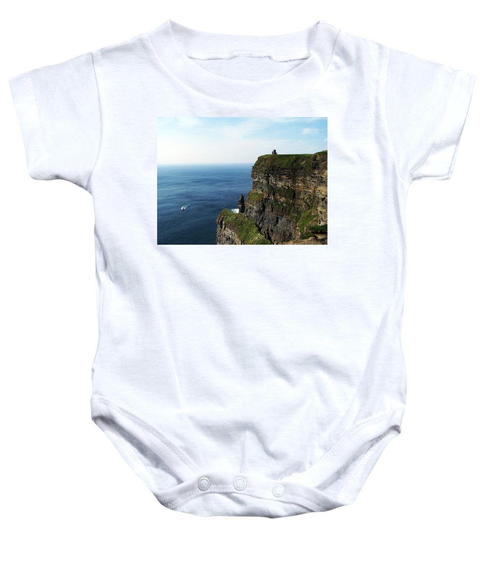 Irish Baby Onesie featuring the photograph Cliffs Of Moher Ireland by Teresa Mucha