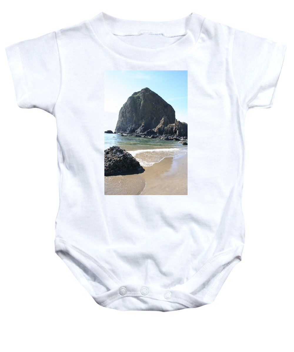 Coastal Landscape Baby Onesie featuring the photograph Coastal Landscape - Cannon Beach Afternoon - Scenic Lanscape by Quin Sweetman