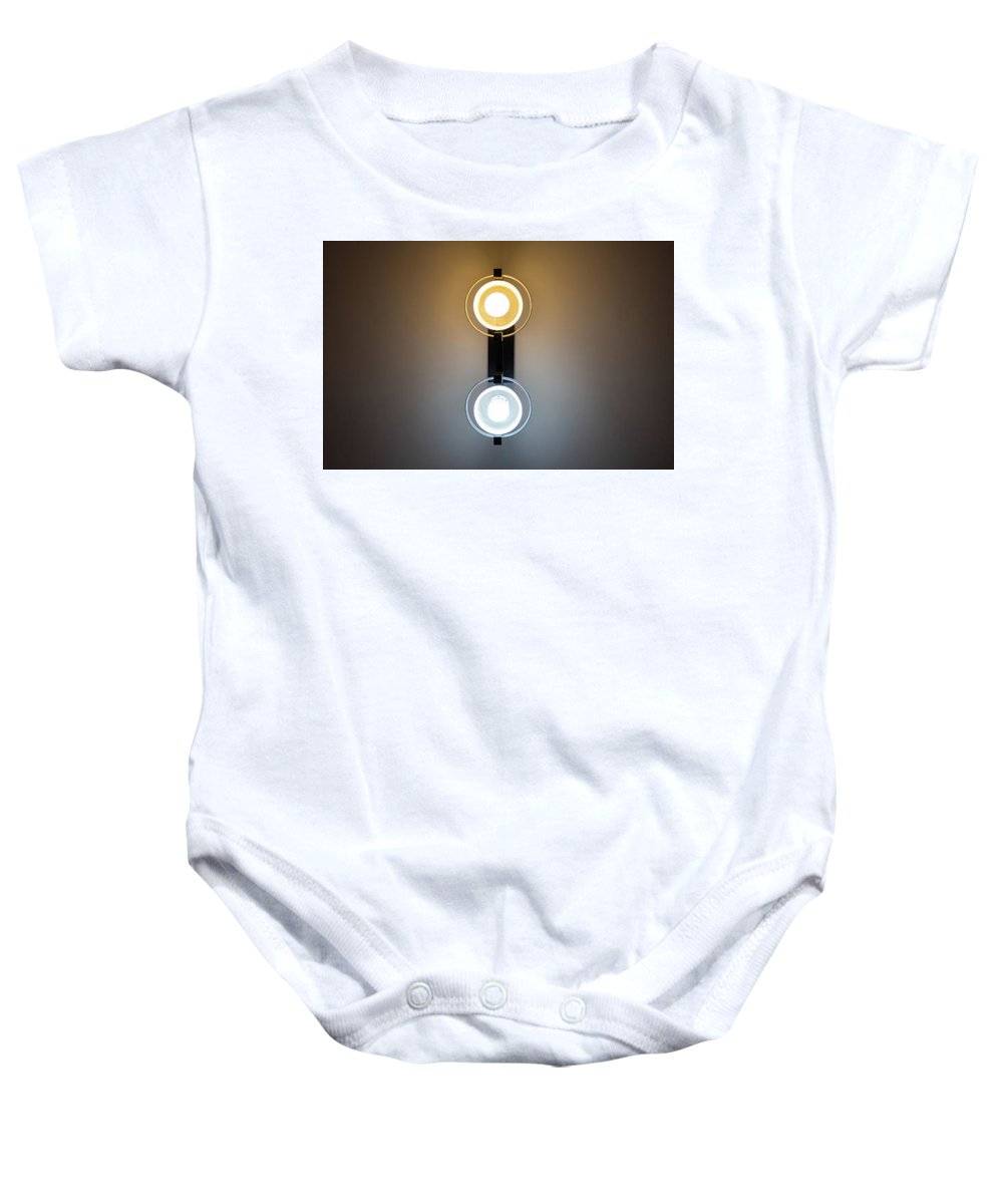 Canon Lens Baby Onesie featuring the photograph Cold And Warm Light by Vlad Negru