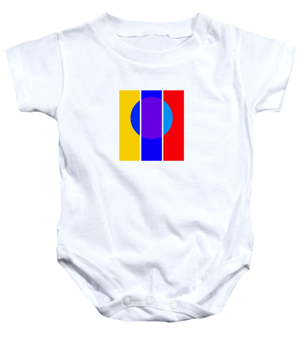 Primary Colors Baby Onesie featuring the painting Color And Form by Charles Stuart
