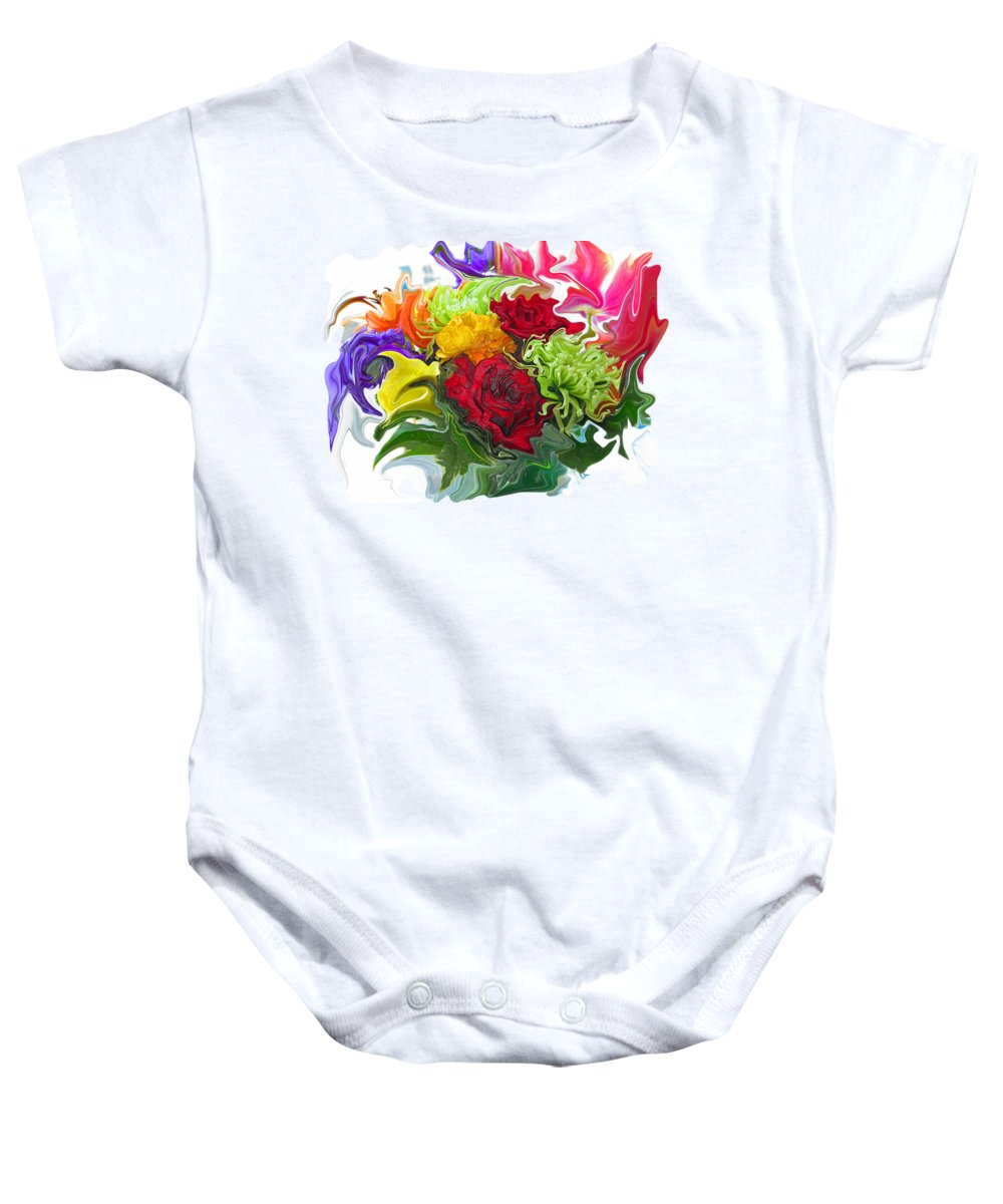 Colorful bouquet onesie for sale by kathy moll abstract baby onesie featuring the photograph colorful bouquet by kathy moll izmirmasajfo