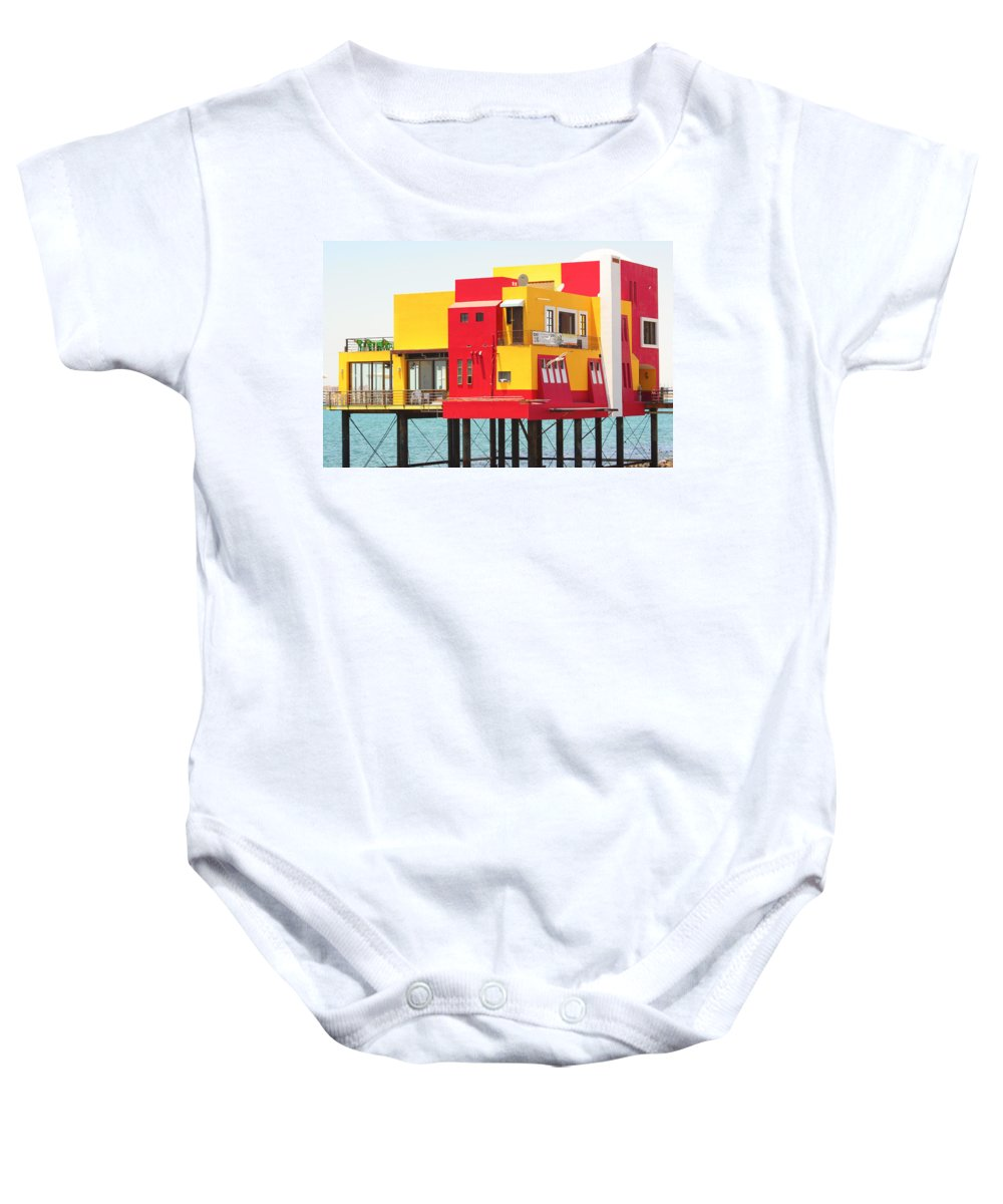 Colorful; Building; Mexico; Architecture; Sea; Ocean; Landscape Baby Onesie featuring the photograph Colorful Mexico by James BO Insogna