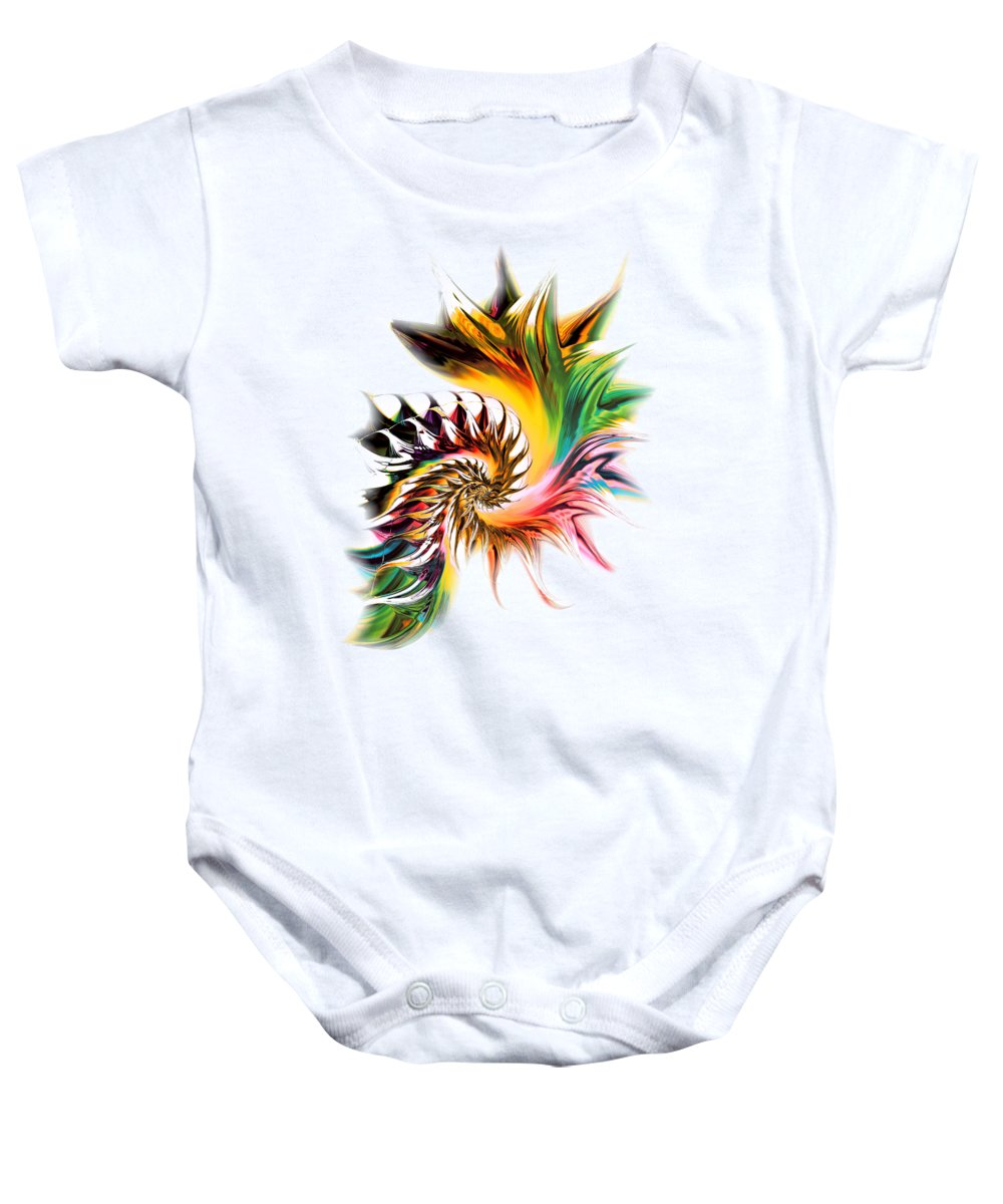 Computer Baby Onesie featuring the digital art Colors Of Passion by Anastasiya Malakhova
