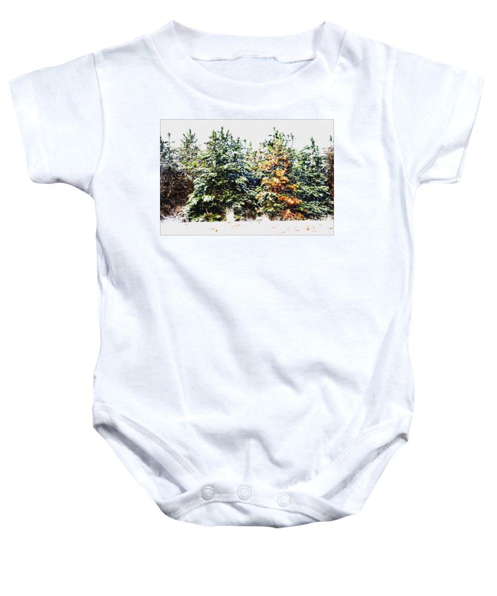 Tree Baby Onesie featuring the photograph Coloured Trees by Cliff Norton