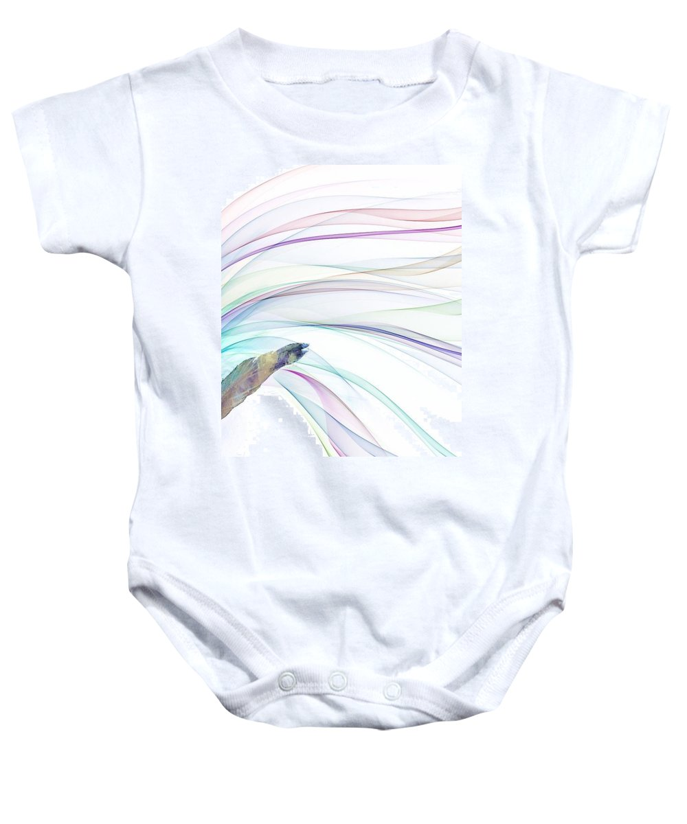 Baby Onesie featuring the digital art Colouring Fountain by Jahanara Thasnim