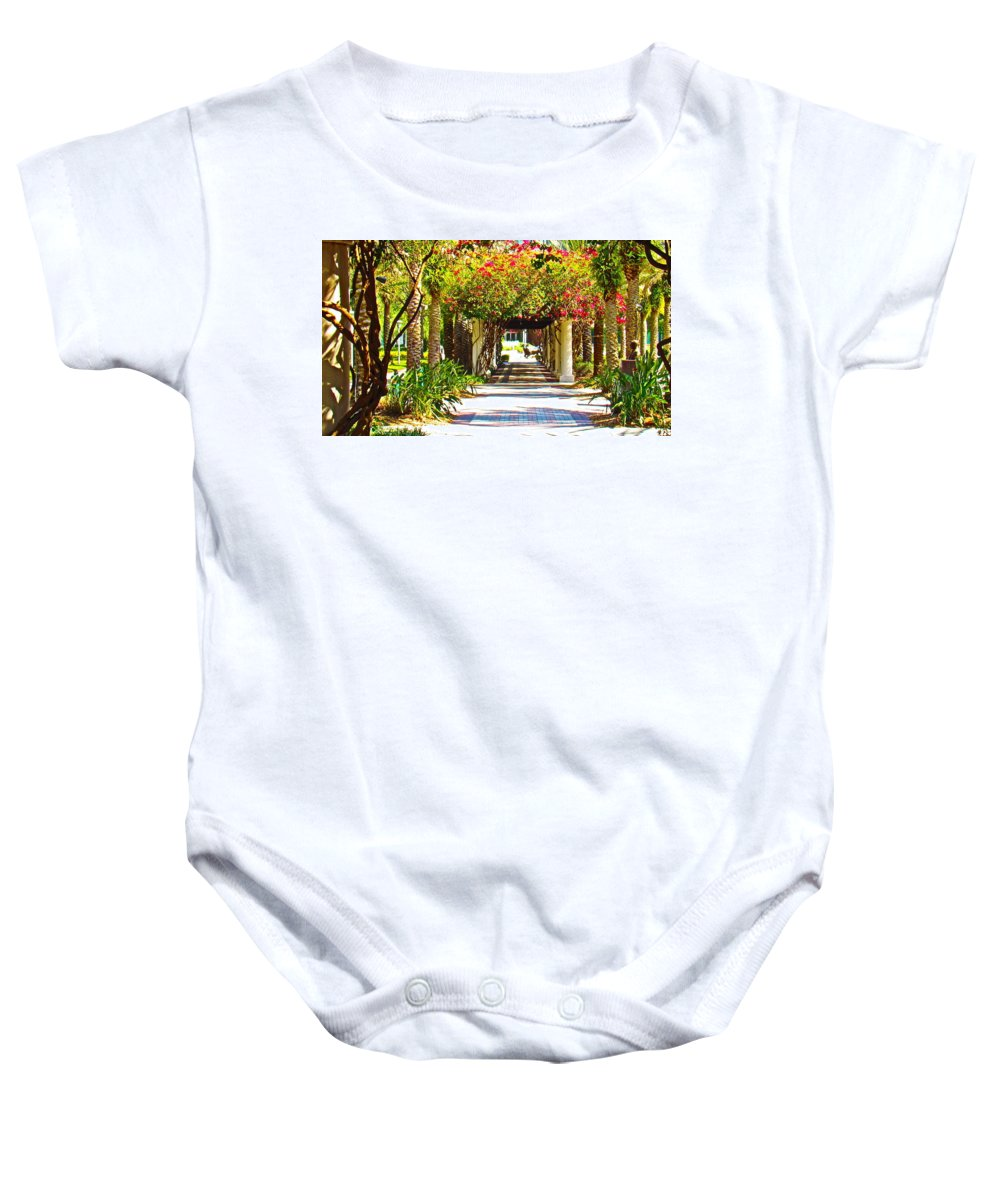 Flowers Baby Onesie featuring the photograph Column Flowers by Daniel Hart