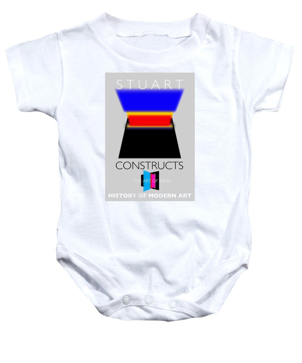De Stijl Baby Onesie featuring the painting Constuctivist Poster by Charles Stuart