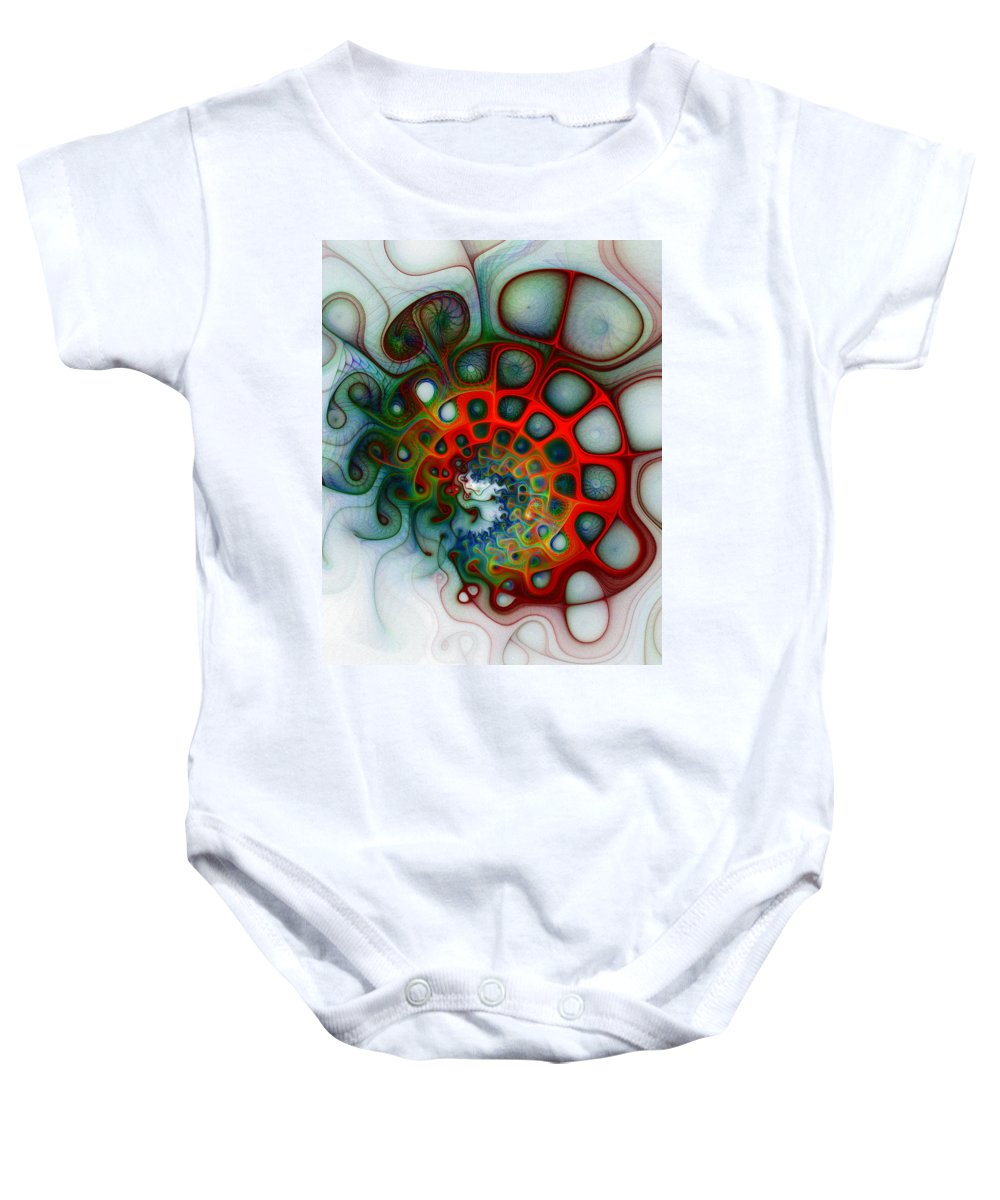 Digital Art Baby Onesie featuring the digital art Convolutions by Amanda Moore