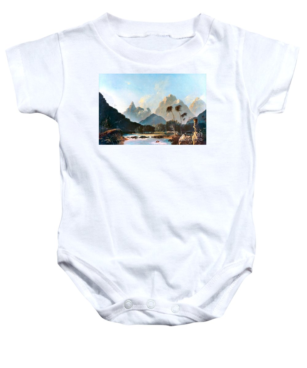 1773 Baby Onesie featuring the painting Cook: Tahiti, 1773 by Granger