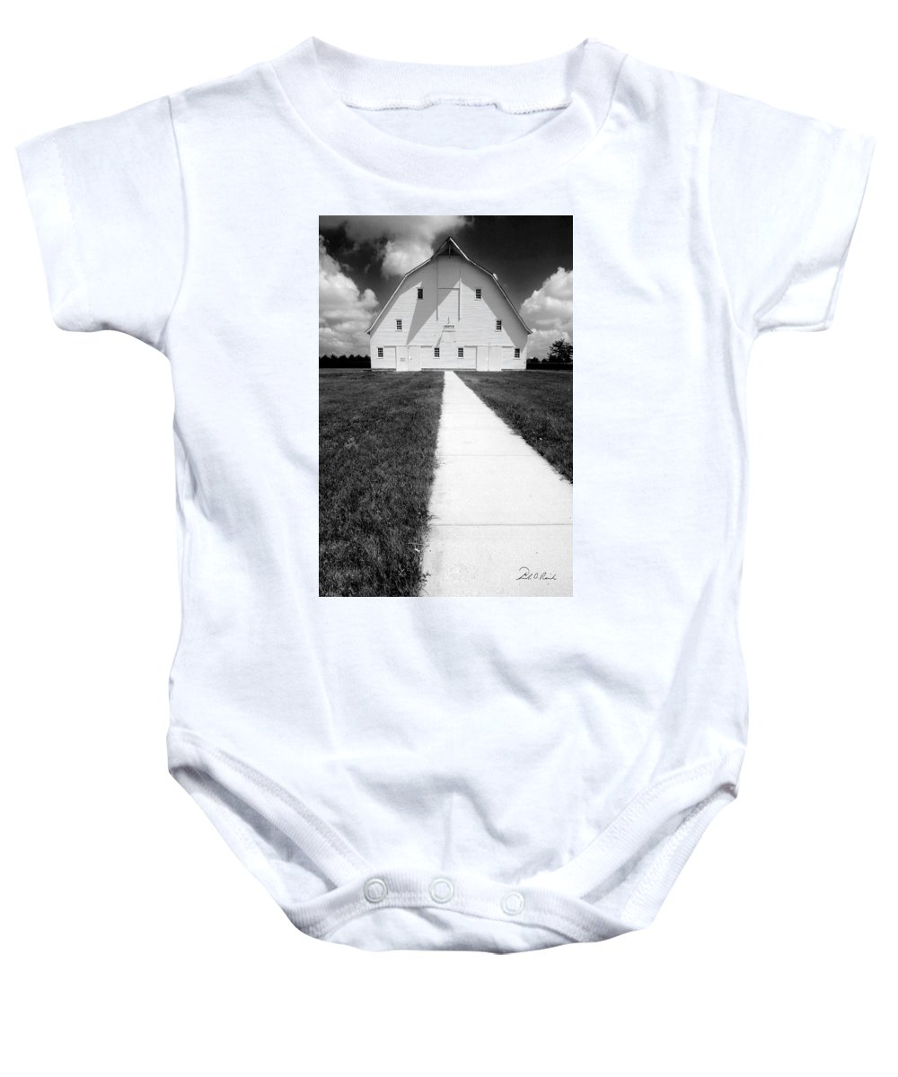 Photography Baby Onesie featuring the photograph Cooper Barn by Frederic A Reinecke