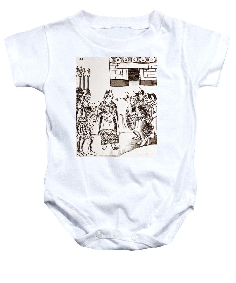 1540 Baby Onesie featuring the photograph Cortes & Montezuma, 1519 by Granger