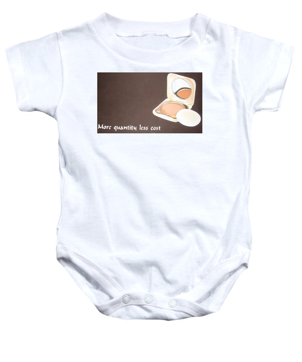 Paintings Baby Onesie featuring the painting Cosmetics Advert by Olaoluwa Smith