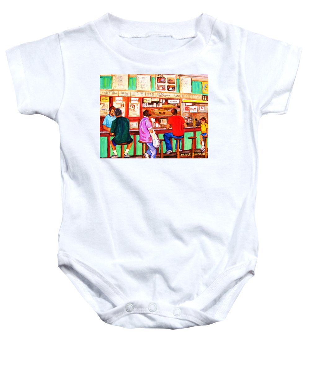 Montreal Baby Onesie featuring the painting Counter Culture by Carole Spandau