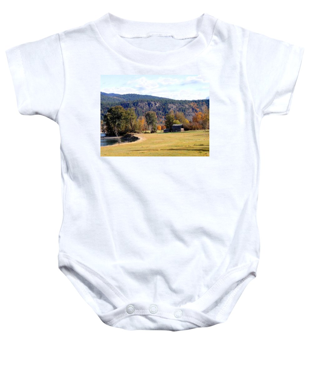 Barn Baby Onesie featuring the photograph Country Charm by Will Borden