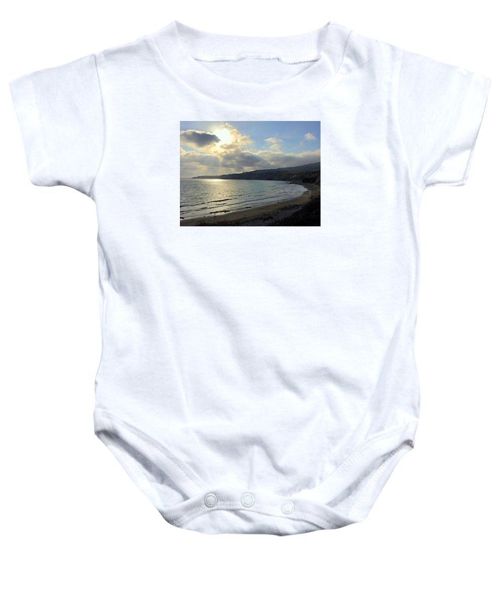Landscape Baby Onesie featuring the photograph Cove Sunlight by FlyingFish Foto
