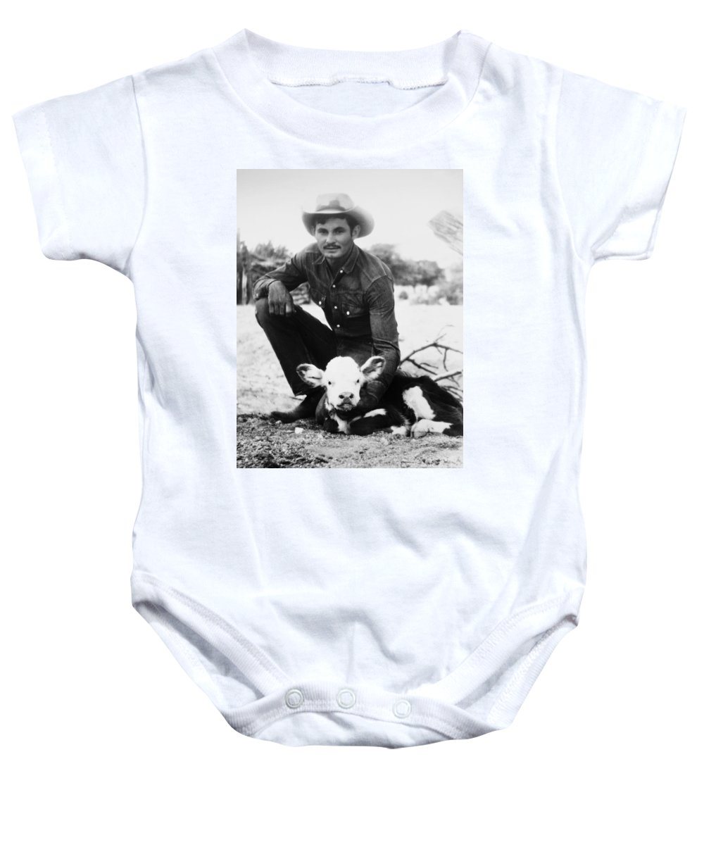 20th Century Baby Onesie featuring the photograph Cowboy, 20th Century by Granger