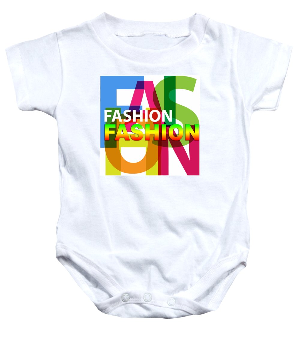 Comics Baby Onesie featuring the digital art Creative Title - Fashion by Don Kuing