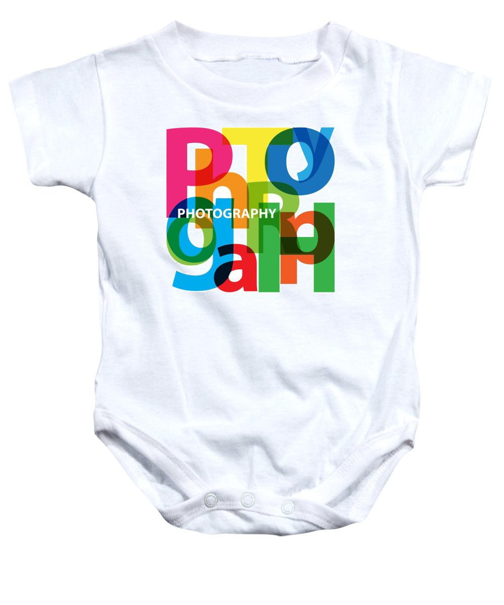Comics Baby Onesie featuring the digital art Creative Title - Photography by Don Kuing