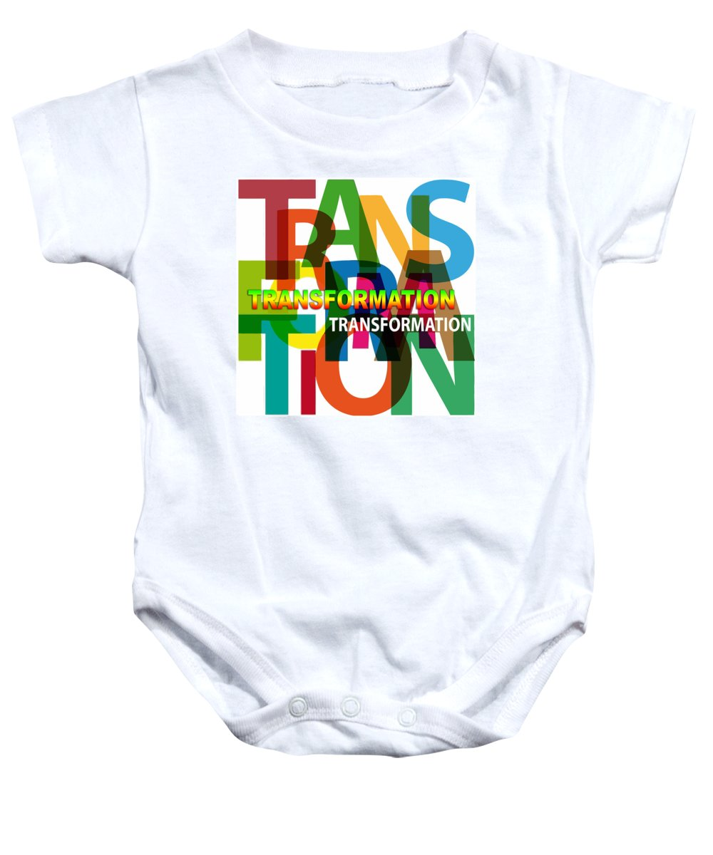 Comics Baby Onesie featuring the digital art Creative Title - Transformation by Don Kuing