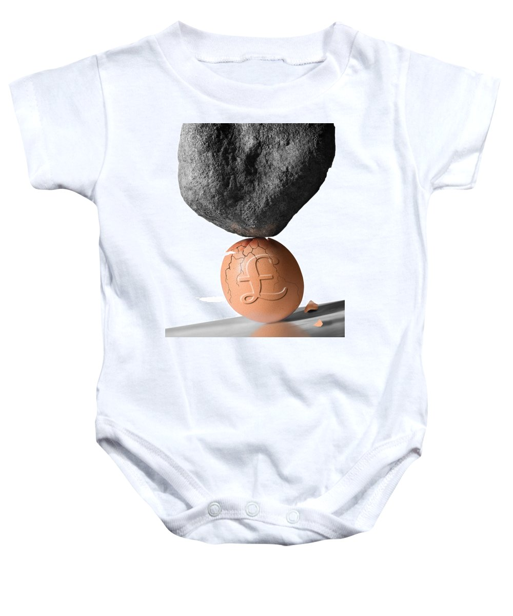 Nest Baby Onesie featuring the photograph Credit Crunch by Mal Bray