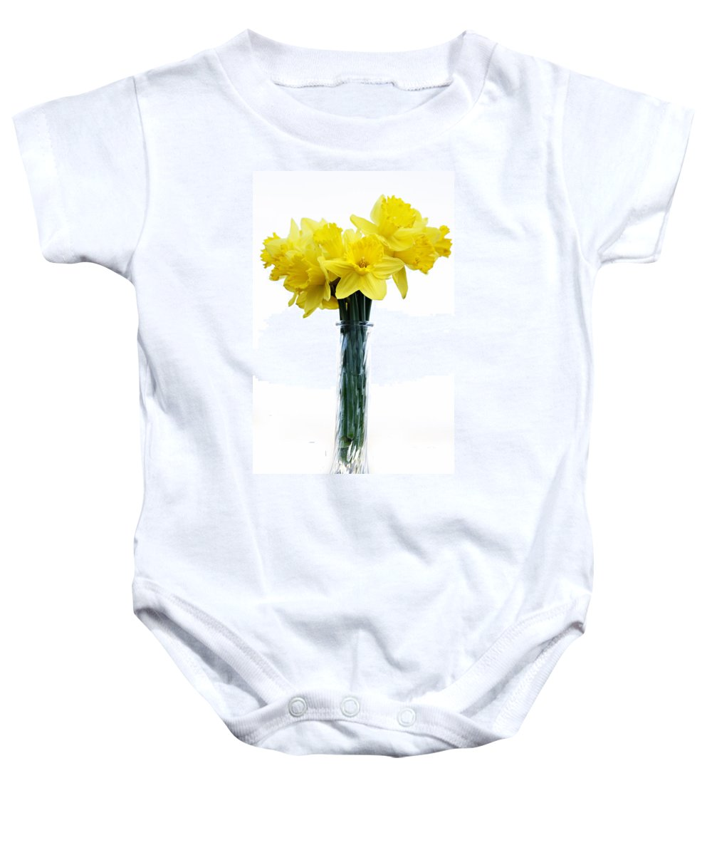 Daffodil Baby Onesie featuring the photograph Daffodil by Marilyn Hunt