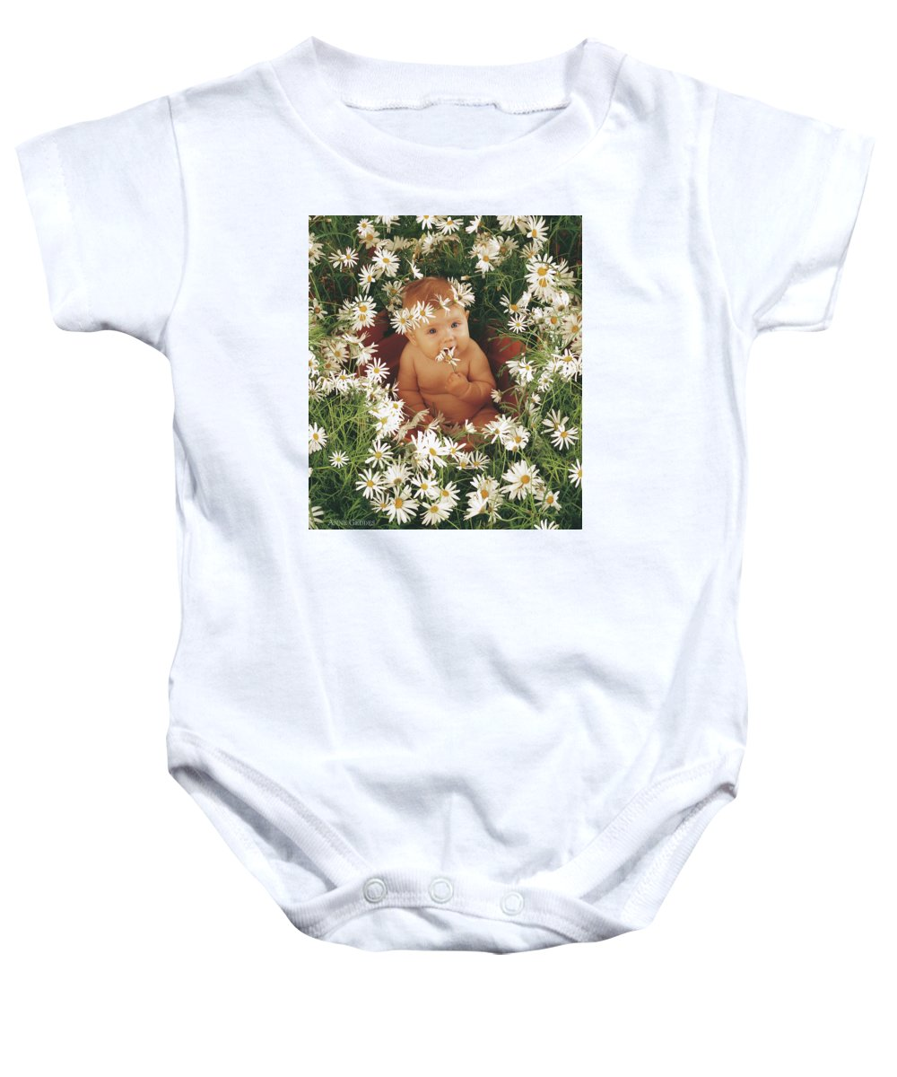 Daisies Baby Onesie featuring the photograph Daisies by Anne Geddes