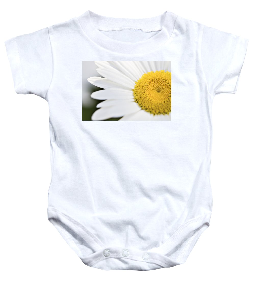 Daisy Baby Onesie featuring the photograph Daisy by Marlo Horne