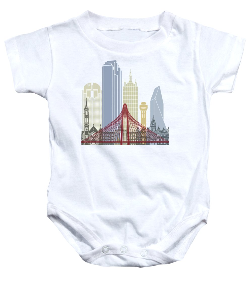 Dallas Skyline Baby Onesies