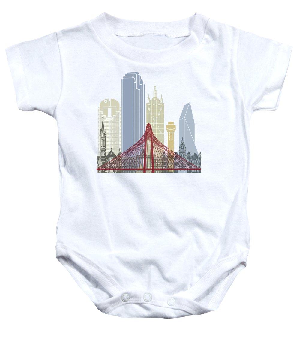 Dallas Skyline Baby Onesies
