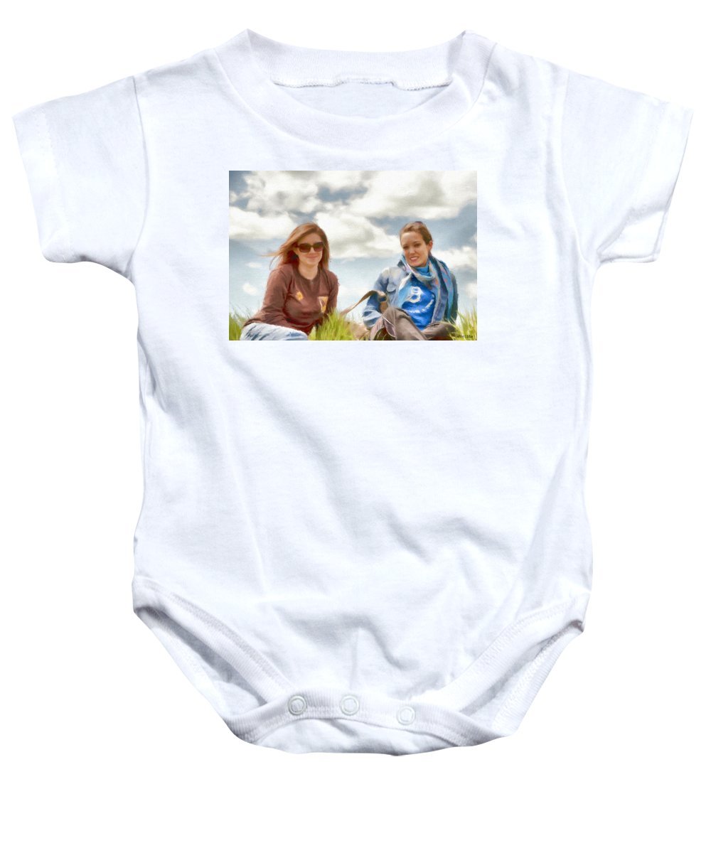 Canadian Baby Onesie featuring the painting Daughters by Jeffrey Kolker