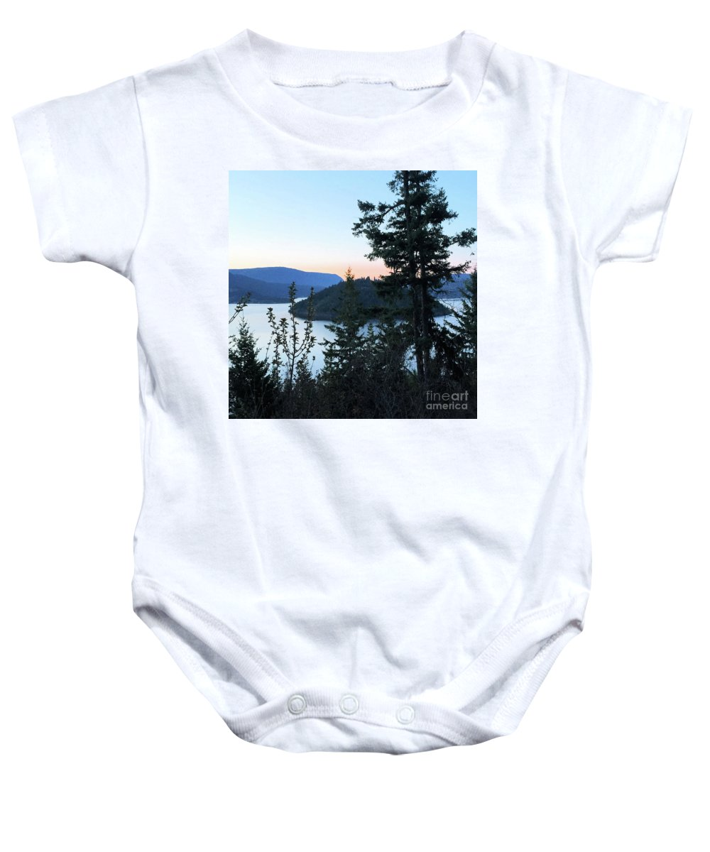 Copper Island Baby Onesie featuring the photograph Dawn At Copper Island by Victor K