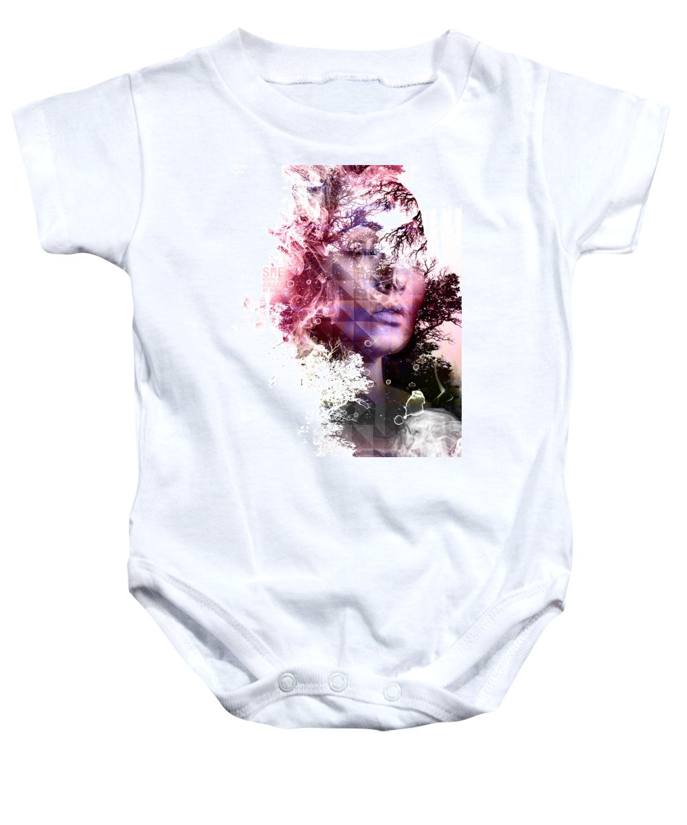 Woman Baby Onesie featuring the digital art Day Dream by INDO The artist