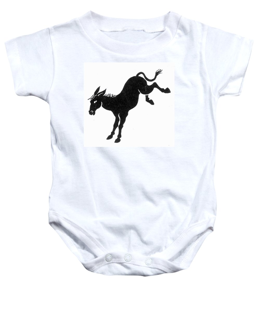 America Baby Onesie featuring the photograph Democratic Donkey by Granger