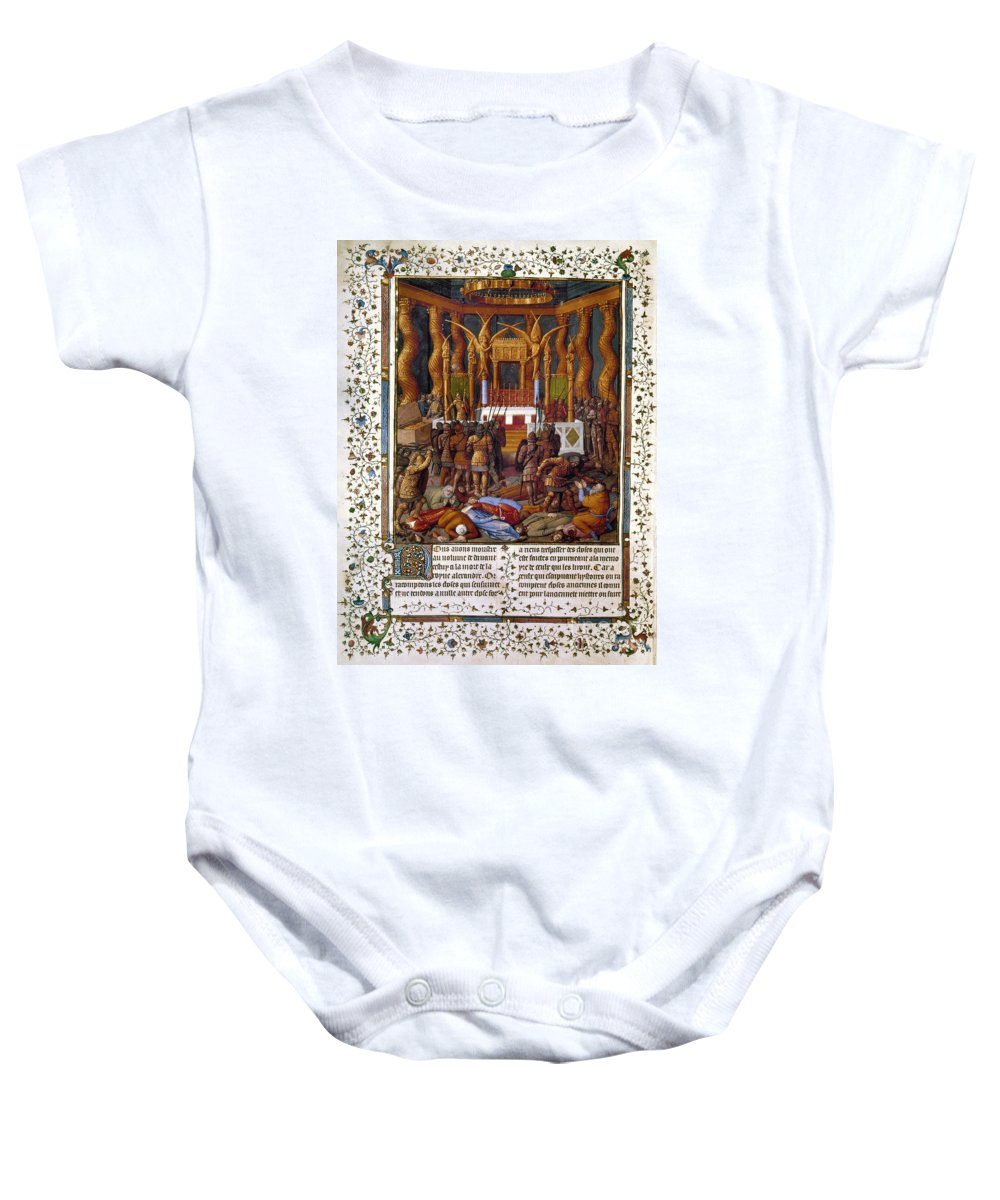 15th Century Baby Onesie featuring the photograph Deportation Of Jews by Granger