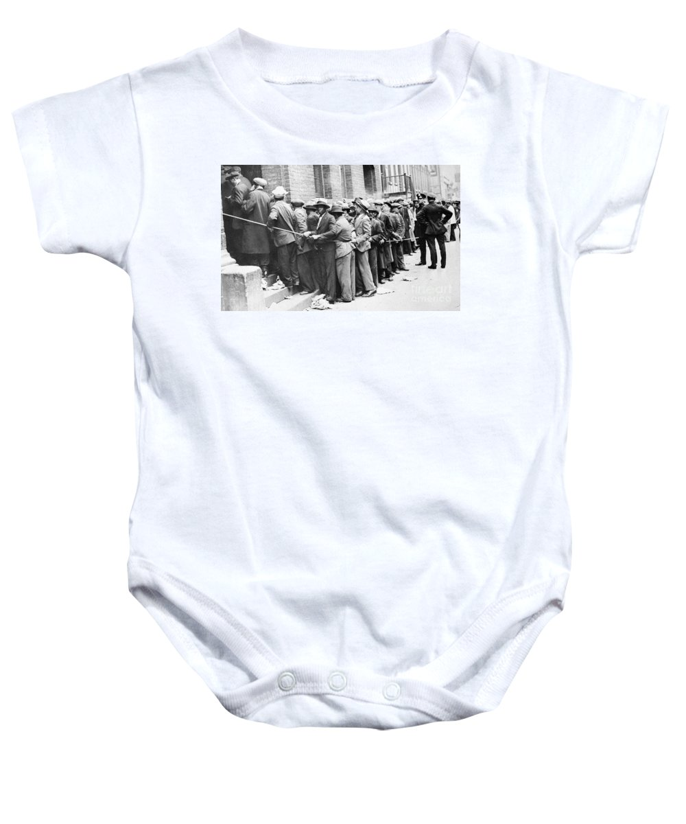 1931 Baby Onesie featuring the photograph Depression: Harlem, 1931 by Granger