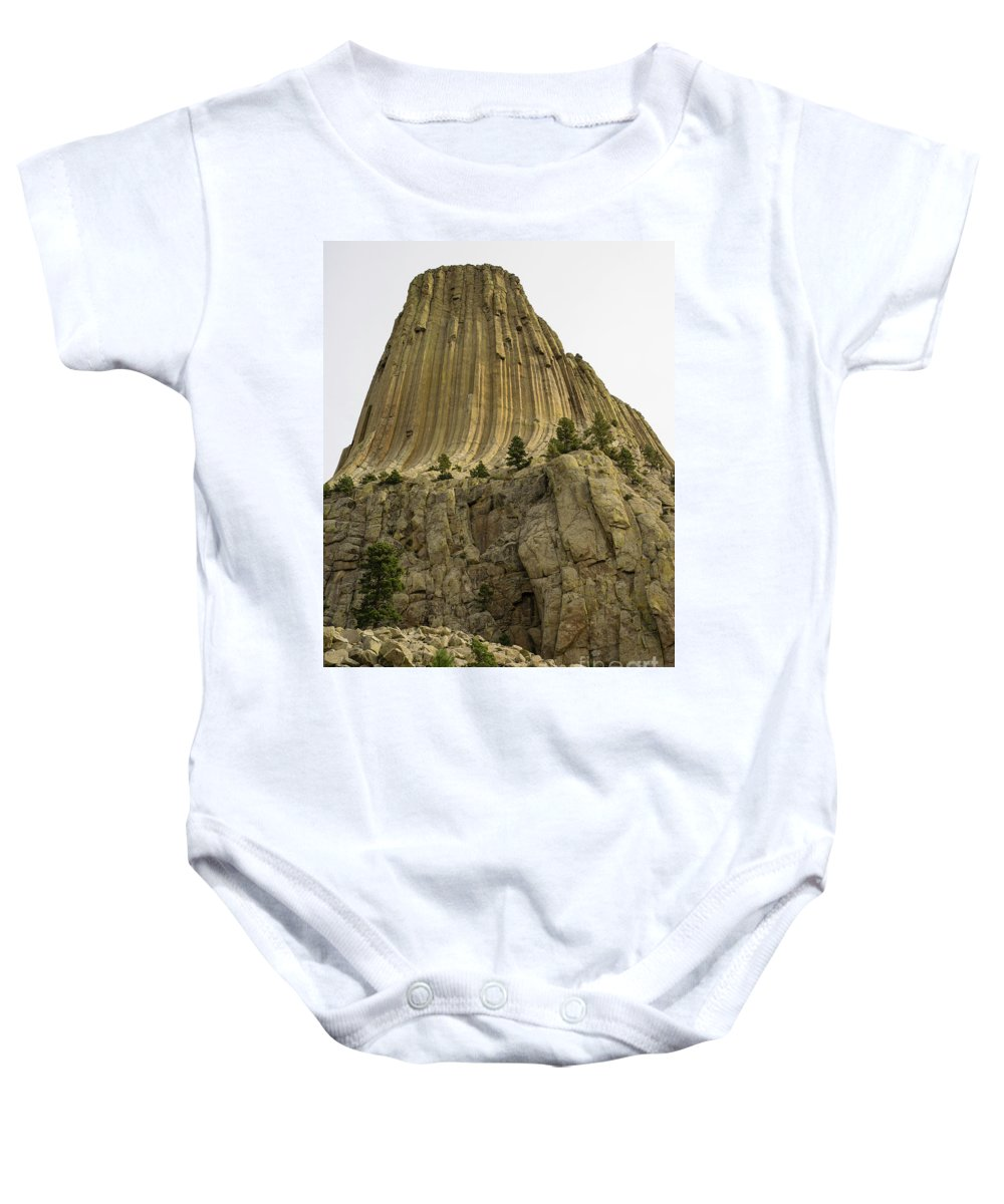 Wyoming Baby Onesie featuring the photograph Devils Tower 5 by Tracy Knauer