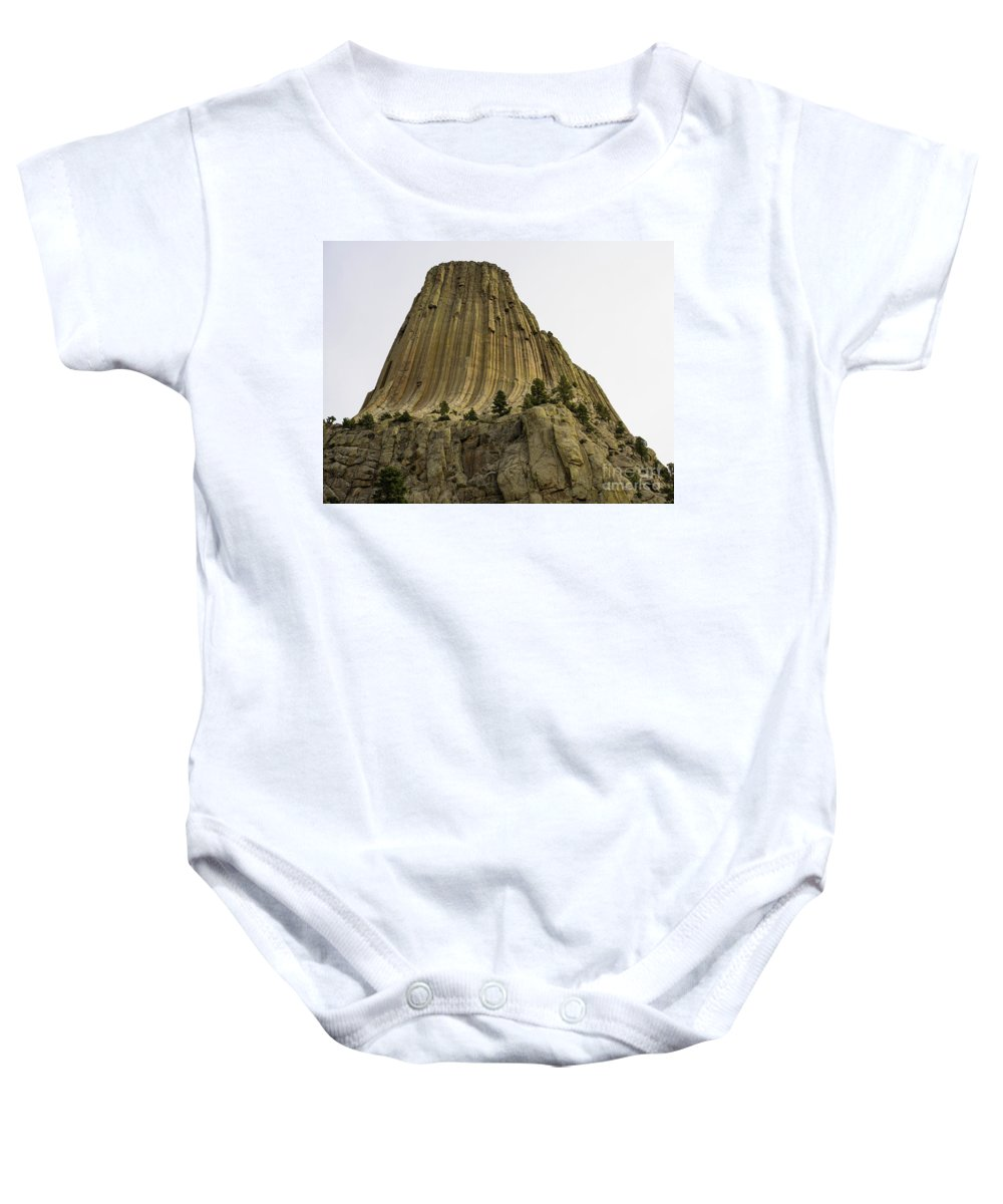 Wyoming Baby Onesie featuring the photograph Devils Tower 6 by Tracy Knauer