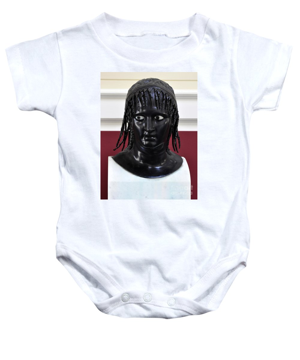 Clay Baby Onesie featuring the photograph Did You See That by Clayton Bruster